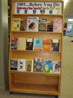 "Library Staff Picks: ""Books You Must Read Before You Die"" - ""The Book that Changed Me"" - ""Best Book I Ever Read"" - ""My Favorite Book Ever"" - ""Great Books of 2013"" - ""Couldn't Put It Down"" - ""Read It From Cover to Cover in One Sitting"" - ""Our Favorite Books""  - ""Our Personal Favorites"" - ""Most Often Checked Out Books In Our Library"" - ""Some of the Most Read Books in Our Library"" - Couldn't Put It Down Kind of Book"" -""Opened Up My World Kind of Book"""