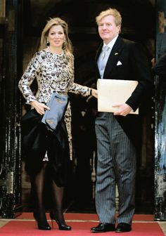 King Willem-Alexander and Queen Maxima attended a New Year's Reception, Dam Palace, January 14, 2015 (look at his hair ;-)