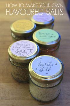 Flavoured Salt: Vanilla, Ginger Spice, Mushroom Thyme, Paprika Lime, Rosemary Lavender Lemon