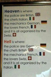 """Heaven is where the police are British"" How do I get in?!?"