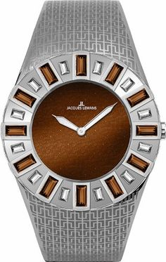 Jacques Lemans Women%27s 1-1585K Cannes Analog with Swarovski Elements Watch