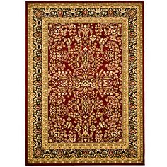 @Overstock - Complete your home decor with a new area rugTraditional rug displays a red background with a black border accented in panel colors of green, red, ivory, rust and beigeRug will keep dirt out and look great for yearshttp://www.overstock.com/Home-Garden/Lyndhurst-Collection-Persian-Treasure-Red-Black-Rug-6-x-9/4244091/product.html?CID=214117 $143.16