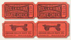 Vintage Roller Rink Tickets | OldBrochures.com