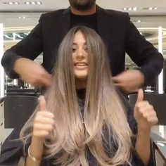 Hair color transformation by @mouniiiir #haircolor #hairvideo #mouniiiir #hairextensions #hairvideos #hudabeauty #hair #hairvideo #hair #hairdo #love #like #hairstyle #egypt #qatar #kwt #uae #paris #london #morocco #usa #followforfollow #like4like #instamood #instagram @hairvideo.mounir