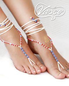 Barfuss Sandalen von VascoDesign auf Etsy