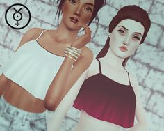 My Sims 3 Blog: Loose Crop Top by Sunny