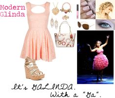 """""""Modern Glinda (Wicked)"""" by ashash607 ❤ liked on Polyvore"""
