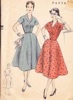 1950s Vintage Womens Sewing Pattern Rockabilly by Sutlerssundries, $19.99
