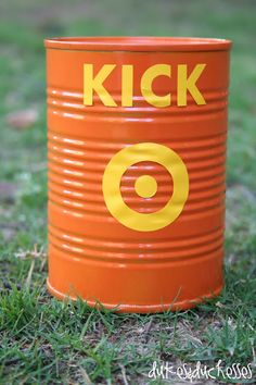 a DIY can for Kick the Can - must do for summer, would love to rejuvenate this old game!