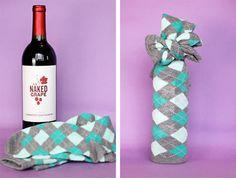 Idea para envolver una botella de vino