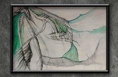 "artist | - rysunek""PERITHEIS TENERA"" FORMAT - 70 x 50 cm TECHNIKA - OLEJ/AKRYL/OŁÓWEK/PROMARKER NA PŁÓTNIE"