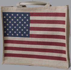 Retro American Flag Tote