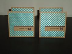 Set of 4 3x3 Mini Thank you Cards by stephpomdesigns on Etsy, $2.25