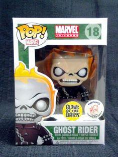 Funko POP Marvel Ghost Rider Bobble Figure (Exclusive Glow in the Dark) http://popvinyl.net #funko #funkopop #popvinyl