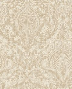 Burlesque Cream / Gold Wallpaper by Graham and Brown