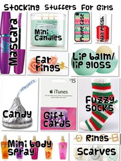 Stocking stuffers for teen girls.
