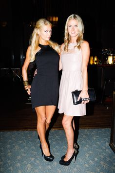 Paris and Nicky Hilton show off their favorite #BrianAtwood pumps. #NYFW