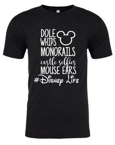 Disney Life - Disney Shirt The shirts we use are 4.2 ounce 100% ringspun combed cotton making them incredibly soft and lightweight (perfect for that Disney sun!). If you are unsure of your size or bet