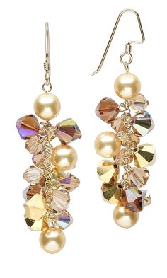 Jewelry Design - Earrings with Swarovski Crystal Beads and Swarovski Crystal Pearls - Fire Mountain Gems and Beads