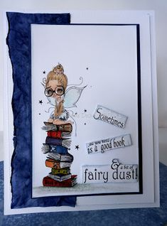 Janette at....Boscraftyplace...: Happy Sunday Sunny Sunday, Happy Sunday, Fairy Dust, Book Worms, I Card, About Me Blog