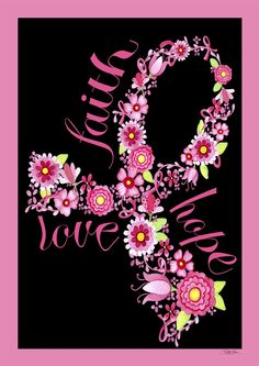 Trademark Fine Art Pink Ribbon Floral Canvas Art by Jennifer Nilsson, Size: 24 x Assorted Breast Cancer Art, Breast Cancer Quotes, Breast Cancer Tattoos, Breast Cancer Support, Breast Cancer Survivor, Breast Cancer Awareness, Pink Ribbon Tattoos, Farmasi Cosmetics, Crafts