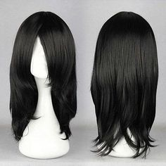 Cheap 55cm Medium Orochimaru Black Anime Cosplay Costume Wig