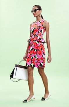 Pretty Dress for a Hot Muggy Day. kate spade new york peplum sheath dress  accessories