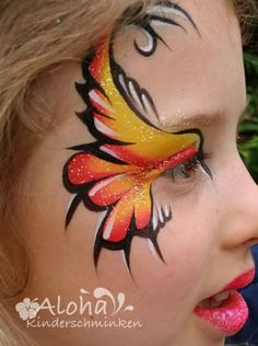 Abstract bird face painting