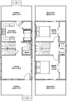 Container House - Tiny House -- -- 873 sq ft - Excellent Floor Plans - Who Else Wants Simple Step-By-Step Plans To Design And Build A Container Home From Scratch? Small Tiny House, Tiny House Cabin, Tiny House Living, Tiny House Design, House 2, Living Room, Cabin Floor Plans, Garage House Plans, Tiny House On Wheels