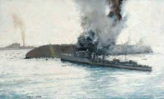 "The Loss of HMS ""Eagle"", by Charles David Cobb."