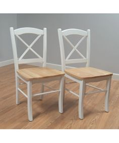 The sturdy Country Cottage Chair is a perfect complement to and dining room  Set of two chairs  Chairs made of tropical hardwood