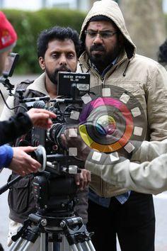 Director Anil C Menon and Jithu Damodar from the shooting location of London Bridge