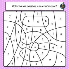 Preschool Writing, Preschool Learning Activities, Kindergarten Worksheets, Preschool Kindergarten, Numbers For Kids, Color By Numbers, Math Books, Learning Numbers, Free Math