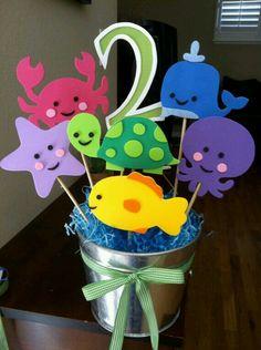 Animales del mar pinchados