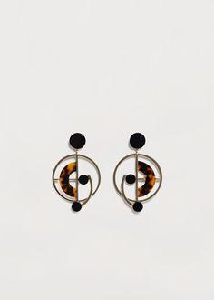 Hoop pendant earrings | MANGO