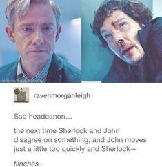 Sherlock and John Johnlock Sherlock Bbc, Sherlock Fandom, Sherlock Quotes, Jim Moriarty, Sherlock Holmes Funny, Watson Sherlock, Johnlock, Martin Freeman, Benedict Cumberbatch