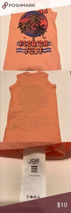 Joe Fresh coral Florida surf tank. Casual tank top. Three available. The price is per top. Offers welcome. Joe Fresh Shirts & Tops Tank Tops