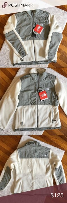 North Face Fleece Denali Jacket North Face Fleece Denali Jacket in Gray and White! •Brand New with Tags!!! •Never Worn The North Face Jackets & Coats
