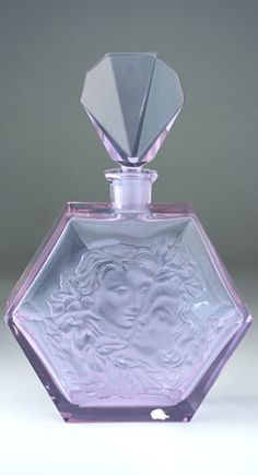 c1930s-DECO-ALEXANDRITE-GLASS-SCENT-PERFUME-BOTTLE-OR-DECANTER-HOFFMANN-INGRID