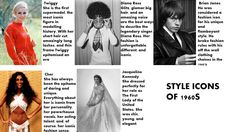 style icons of 1960s