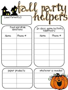 Printable Potluck Sign Up Sheet Template | Ideas | Pinterest ...