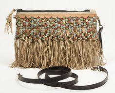 Boho Chic Clutch. Boho fringes bag. Fringe Clutch. Crossbody clutch. Small bag…