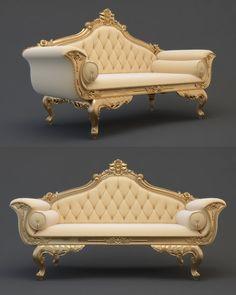 Model Sofa Cnc Model is part of Furniture - Royal Furniture, Classic Furniture, Luxury Furniture, Furniture Decor, Sofa Bed Design, Living Room Sofa Design, Home Room Design, Victorian Sofa, Victorian Furniture