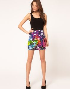 Pair a monochrome palette with this Motel Kimmy Skirt in Tie Dye
