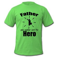 Father - just another word for Hero. Tolle Shirts und Geschenke für alle heldenhaften Väter.