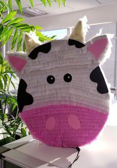 Piñata Vaca Lola Cow Birthday Parties, 2nd Birthday, Farm Animal Birthday, Party In A Box, Farm Animals, Cake Kids, Baby Shower, Merida, Diy