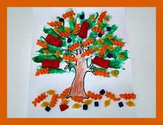 Fall Song and Pasta Noodle Tree Craft