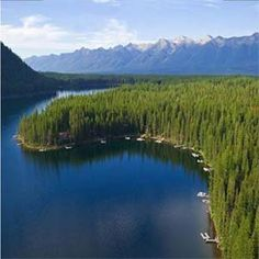 Lindbergh Lake, Montana. My family owns a house on this lake.  One of the most pristine lakes around.