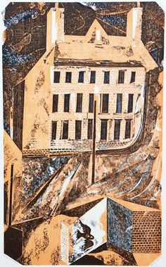 """""""The Owl House"""" by Charles Shearer (collagraph)"""
