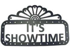 Its Showtime Home Theater Decor Marquee Metal Wall Art